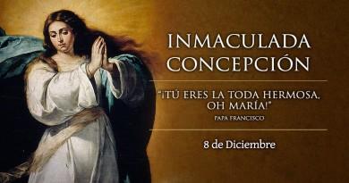 Ven a celebrar la Inmaculada Concepción