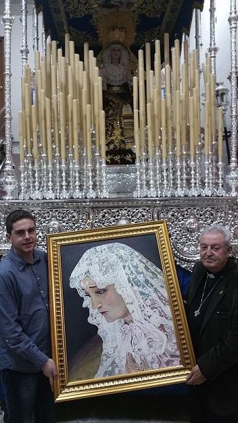 Entrega cuadro Virgen
