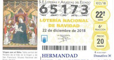 Últimos días para adquirir la Lotería de Navidad de la Hermandad