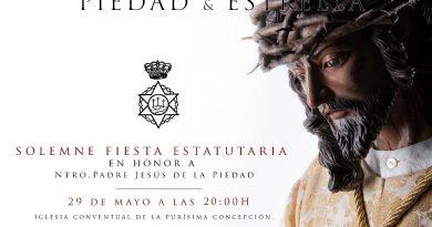 Fiesta de Estatutos de Jesús de la Piedad 2021