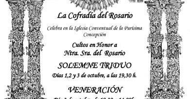 Cultos de la Cofradía del Rosario 2021